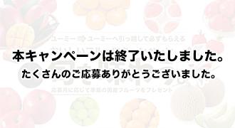 【ユーミーからユーミーに引っ越して必ずもらえる】おいしいフルーツキャンペーン旬を味わう。応募月に応じて季節のフルーツをプレゼント